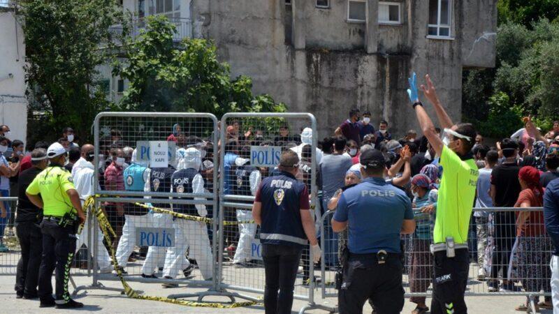 Mahalleliden karantina tepkisi: Polise taş attılar