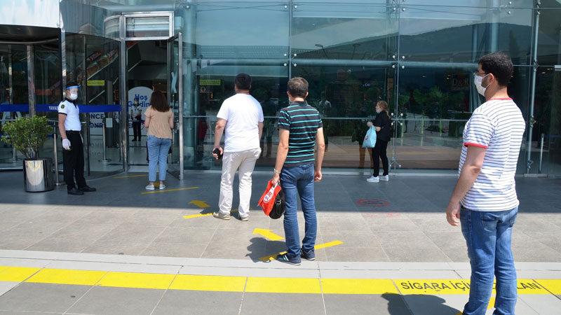 Bursa'daki AVM'lere korona denetimi