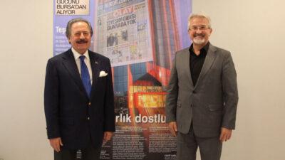 Nilüfer Belediye Başkanı Turgay Erdem'den Olay Medya'ya ziyaret