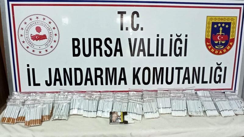 Bursa'da kaçak tütün satan kişiye para cezası