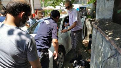 Bursa'da talihsiz kaza! Otomobil ile duvar arasına sıkıştı
