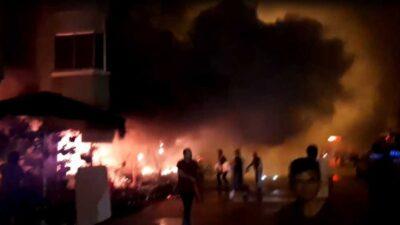 Bursa'da korku dolu saatler…Çiçekçi dükkanı alevlere teslim oldu