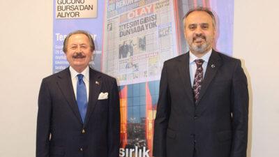 Büyükşehir Belediye Başkanı Alinur Aktaş'tan Olay Medya'ya ziyaret