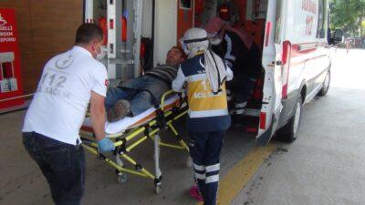 Bursa'da elini torna makinesi kaptırdı