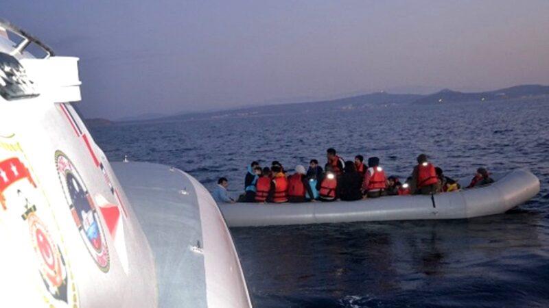 Ayvalık'ta göçmen hareketliliği… 39 kişiyi taşıyan bot…