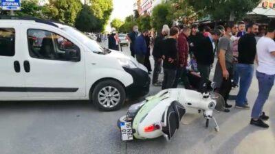 Bursa'da hafif ticari araç ile motosiklet çarpıştı: 1 yaralı
