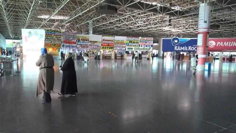 Bursa'da otobüs terminali ilk gün boş kaldı