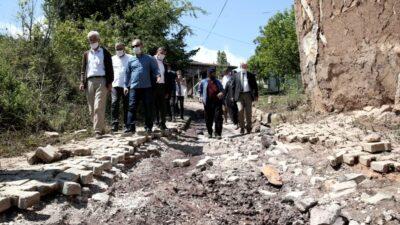 Sel felaketinden etkilenen Yenisölöz'e Turgay Erdem'den ziyaret