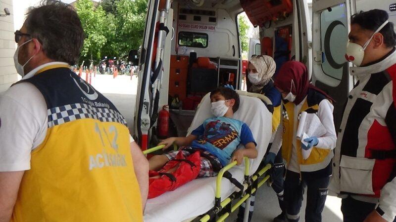 Bursa'da otomobilin çarptığı çocuk yaralandı