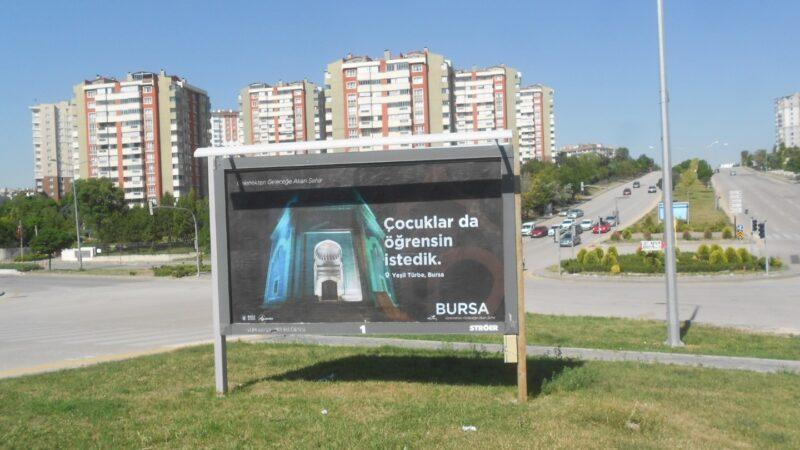 4 kentin bilbordlarından pandemi sonrası için 'Bursa'ya gel' çağrısı!