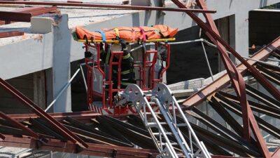Spor salonu inşaatında çökme! Ölü ve yaralılar var