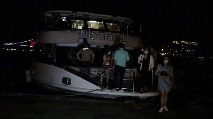 150 kişilik yat partisine polis baskını