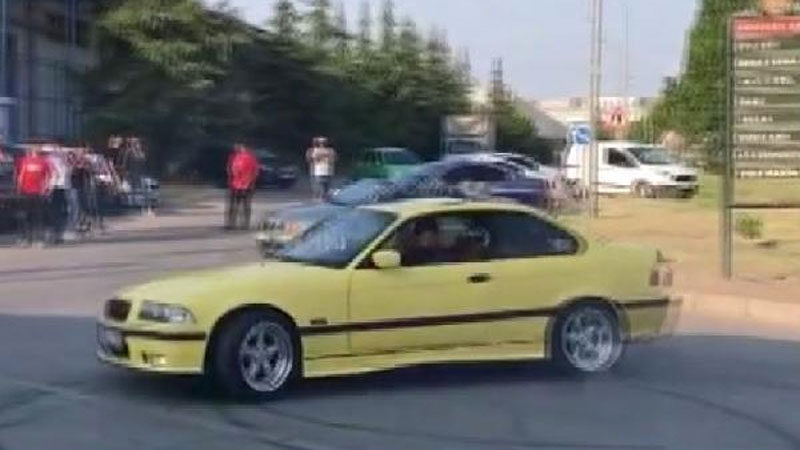 Bursa'da yolu kapatıp drift yapan magandalara ceza yağdı