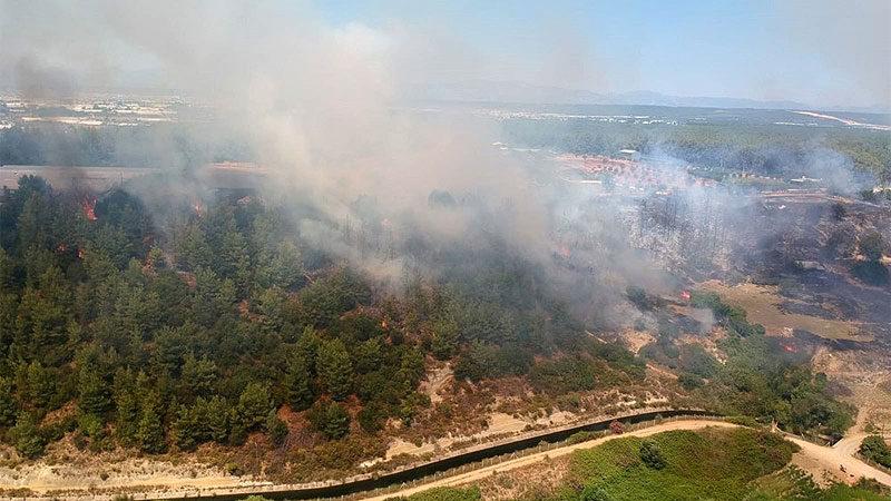 Antalya'da orman yangını! Havadan karadan müdahale…