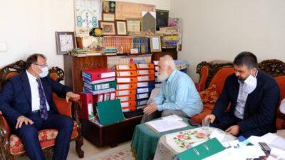 Çavuşoğlu'ndan Ayasofya mimarı Kandemir'e teşekkür ziyareti