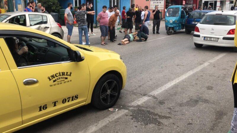 Bursa'da yolun karşısına geçerken ölümden döndü