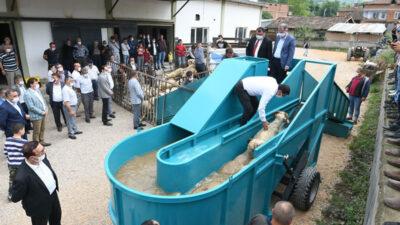 İnegöl'de küçükbaş hayvan yıkama havuzu hizmete girdi