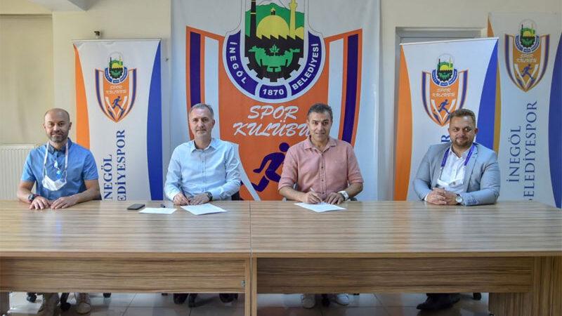 İnegöl Belediyespor Levent Zoroğlu ile sözleşme yeniledi