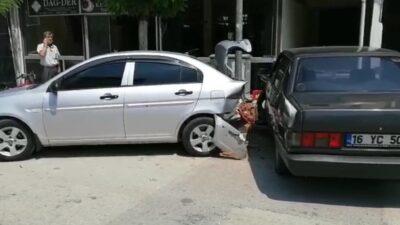 Bursa'da otomobil kontrolden çıktı: 1 yaralı