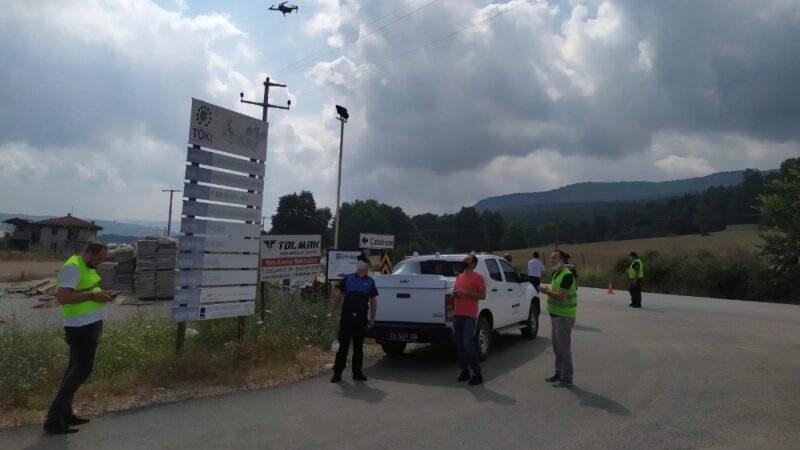 Bursa'da kaçak hafriyat denetlemesi