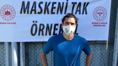 Bursaspor'dan kampanyaya destek; 'Maskeni Tak Örnek Ol'