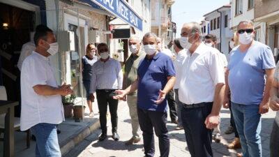 Mudanya'da ruhsat krizi çözüldü… Başkan Türkyılmaz esnafla buluştu…