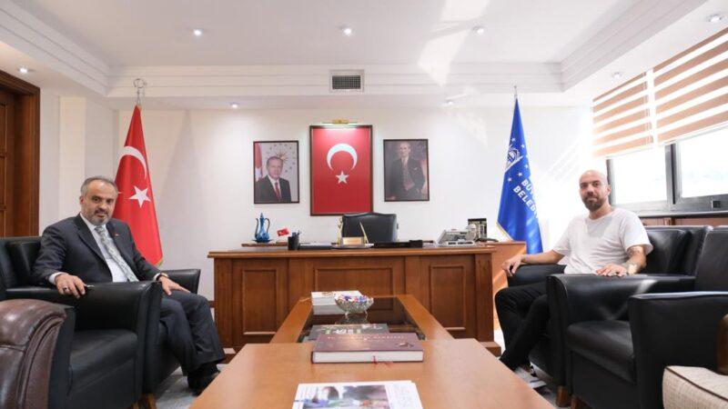 Survivor Sercan'dan Başkan Aktaş'a ziyaret…