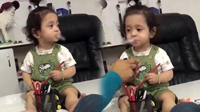 Bir sigara skandalı daha! 2 yaşlarındaki küçük kıza…