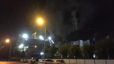 Bursa'da korkutan yandı… Sunta fabrikasının talaş silosunda…