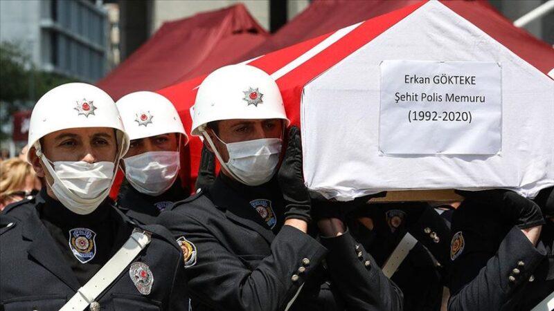 Şehit polis memuru Gökteke için cenaze töreni düzenlendi