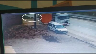 Bursa'da korkunç kaza! O anlar kamerada