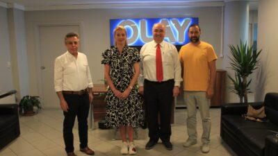 DOSABSİAD BAŞKANI NİLÜFER ÇEVİKEL'DEN OLAY'A ZİYARET