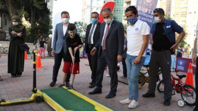 Bursa'da çocuklar spor yaparak eğleniyor