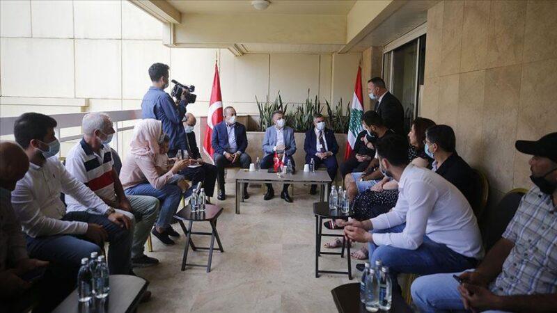 Oktay ve Çavuşoğlu Beyrut'taki patlamada yaralanan Türklerin aileleriyle görüştü