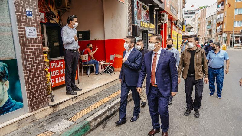 Kestel Belediye Başkanı Tanır'dan koronavirüs denetimi