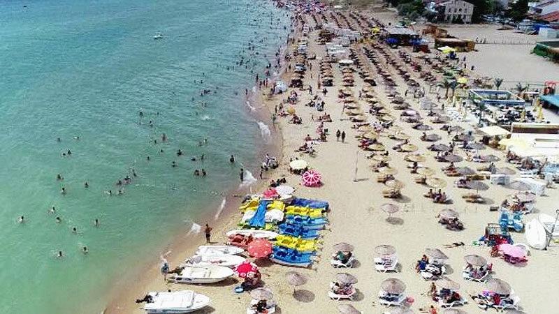Saros Körfezi'ne tatilci akını
