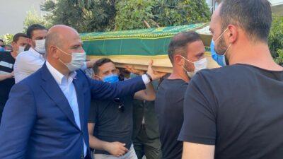 Bakan Soylu, Teftiş Kurulu Başkanı Gürsel'in eşinin cenazesine katıldı