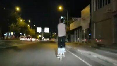 Bursa'daki tehlikeli yolculuk kamerada