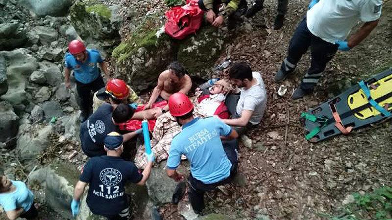 Bursa'da feci olay! 15 metre yükseklikten düştü