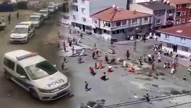 İstanbul'da meydan savaşı gibi kavga