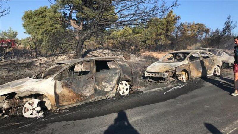 Otluk alanda yangın! 50 araç kül oldu