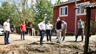 Dolu ve sel felaketini yaşayan mahallelerin yaraları sarıldı