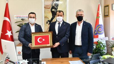 Başkan Kanar'dan yeni atanan Erçetin ve Güner'e hayırlı olsun ziyareti