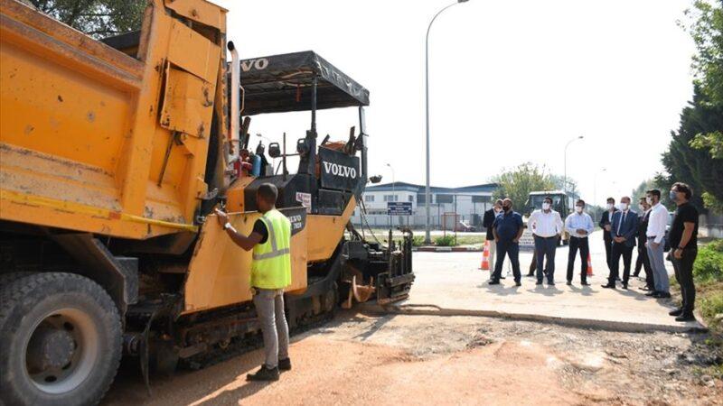 İnegöl beton yollar ile kaplanmaya devam ediyor