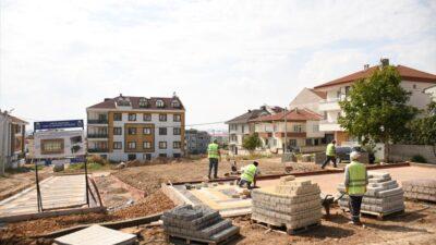 Yeni Mahalle'de 28 araçlık otoparkın yapımı sürüyor