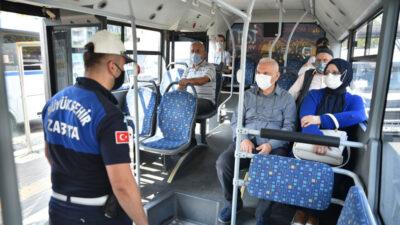 Bursa'da toplu taşıma araçlarına korona denetimi