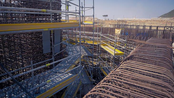 Akkuyu'nun ikinci ünitesinde reaktör ve türbin binalarının temeli atıldı