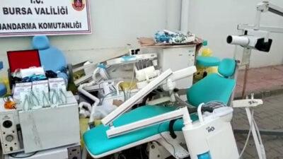 Bursa'da 'kaçak dişçi' baskını: 5 gözaltı