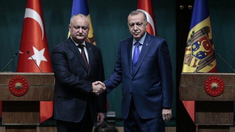 Cumhurbaşkanı Erdoğan, Moldova Cumhurbaşkanı ile görüştü