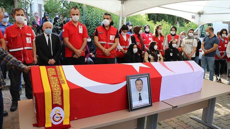Suriye'de şehit olan Türk Kızılay personeline son görev